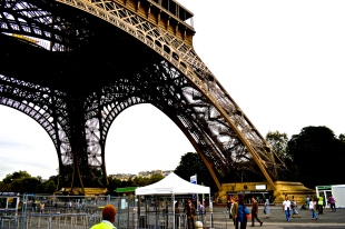 The base of the Eiffel Tower 2016